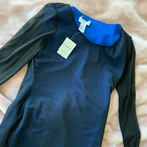 NWT Carmen Marc Valvo Long sleeve Dress